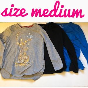 Girl's size medium long sleeve tops
